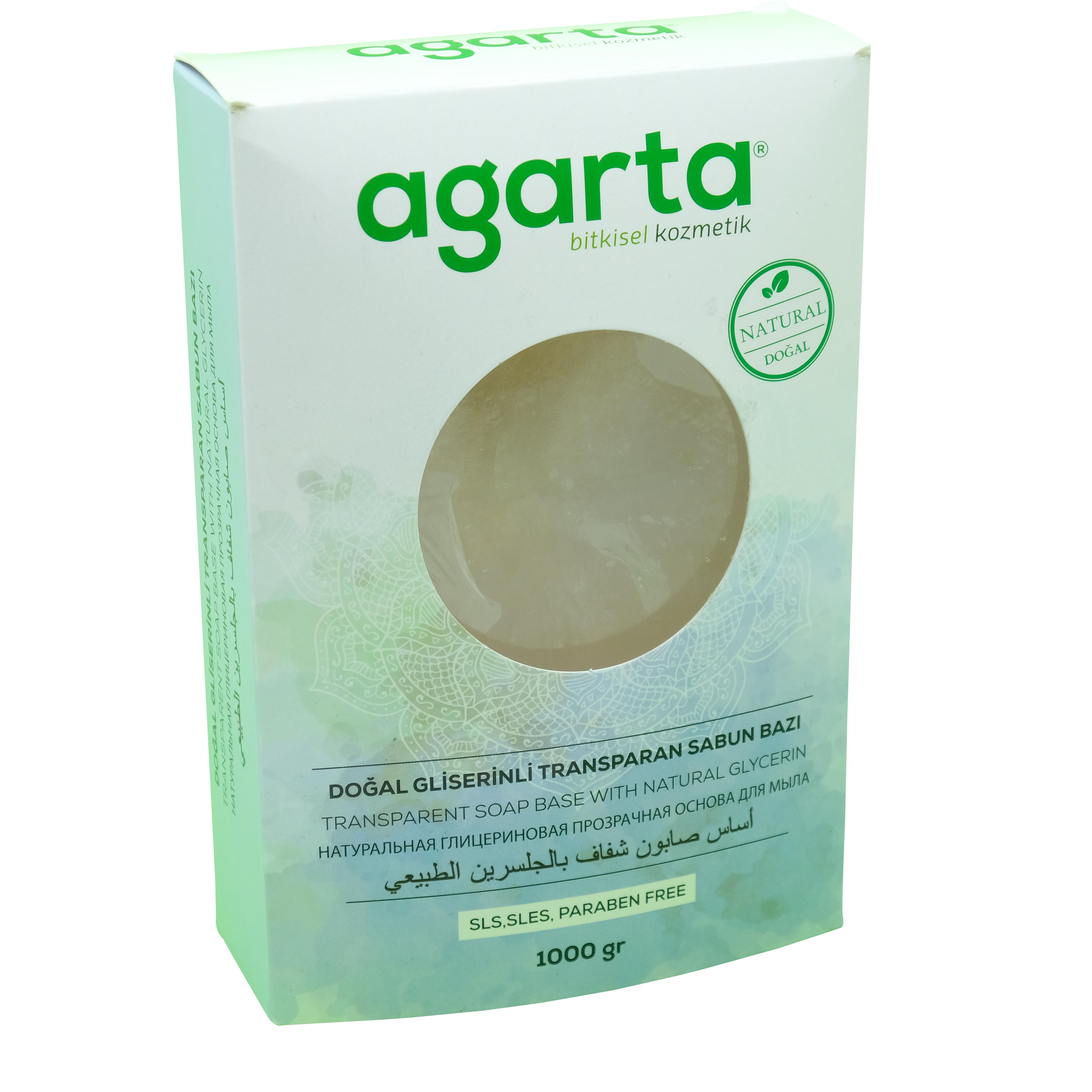 Agarta Natural Gliserinli Transparan Sabun Bazı